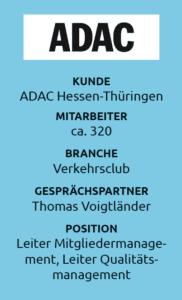 Thomas Voigtländer, Leiter des Qualitätsmanagment des ADAC Hessen-Thüringen